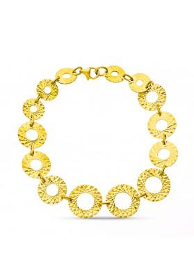 18K GOLD CIRCLES BRACELET