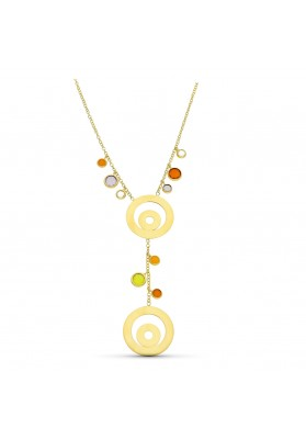 18K YELLOW GOLD STONES WITH...